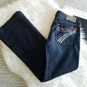 7FAM | Dojo Wide Leg Trouser Jeans Sz 30